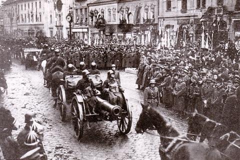 Príchod honvédov do Košíc